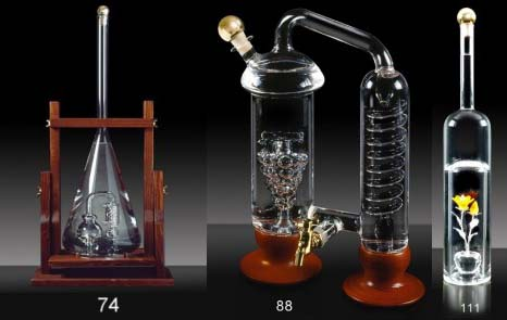 Vendita bottiglie vetro soffiato